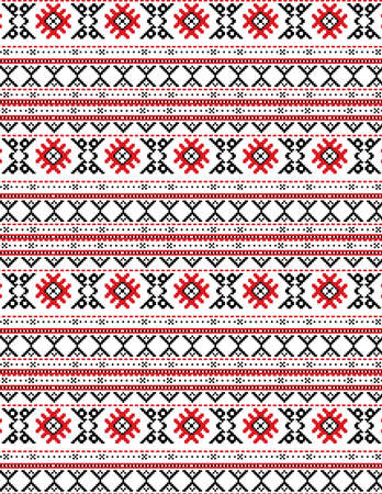 The russian traditional embroidery. Vector