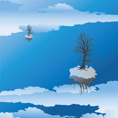 Tree and sky Stock Vector - 7462548