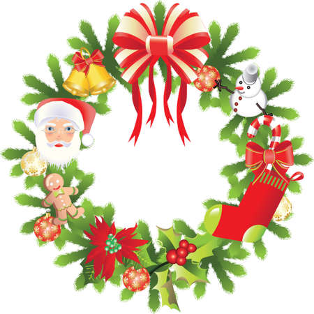 Christmas wreath. Illustration