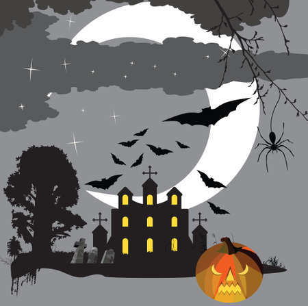Scary halloween Stock Illustratie