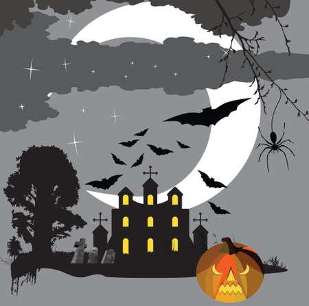 Scary halloween Vector