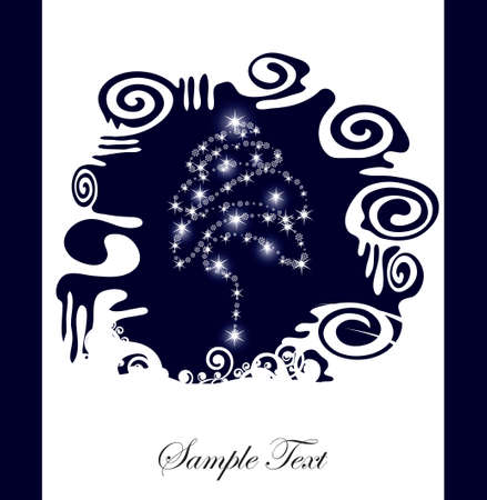 abstract Christmas tree silhouette background, with place for your text Illustration