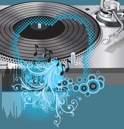 Music poster.DJ Stock Vector - 9831832