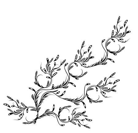 bloemen illustratie met ruimte voor tekst