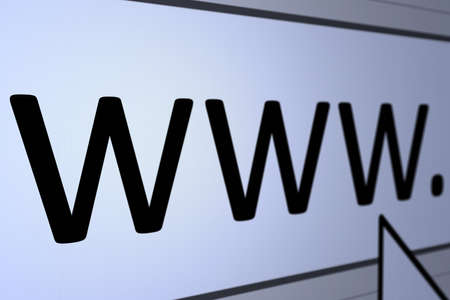 Graphic of address bar in an internet browser with cursor arrow, subtle blue tint. Stock Photo - 8701390
