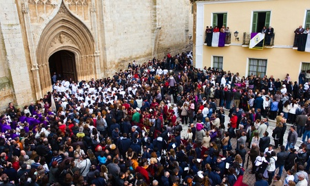 crucis: Medina de Rioseco, Spain - 22-04-2011 - Holy week processions.