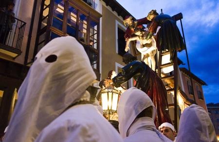 Medina de Rioseco, Spain - 22-04-2011 - Holy week Christ procession.