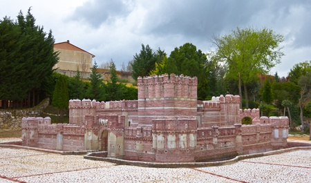 Olmedo, Spain, May 5 2011 - Brick model of the castle of Coca Stock Photo - 11565227