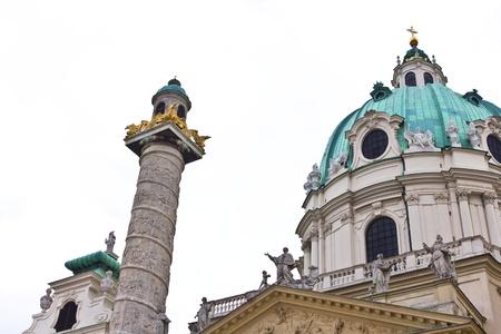 St. Charles Cathedral, Karlskirche, in Vienna, Austria.