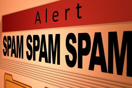 Computer generated image of a spam alert. photo