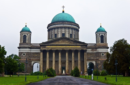 The Esztergom Basilica, the tallest building in Hungary and the 18th biggest church in the world. Stock Photo - 13183614