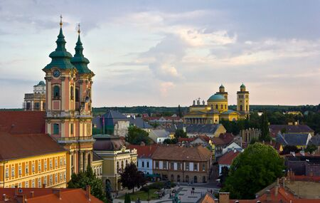 The medieval town of Eger taken from the ramparts of the Eger fort.