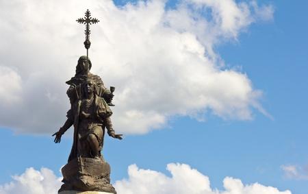 discoverer: Estatua de Crist�bal Col�n, que representa el descubrimiento de Am�rica.