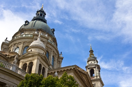 saint stephen cathedral: Dome of St  Stephen s basilica, dedicated to hungarian first king St  Stephen, largest church in Budapest