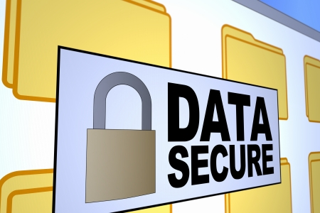 Computer generated image of a data secured message. Concept for data security. Stock Photo - 16992068