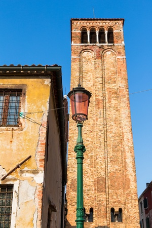 marcos: Tower of San Giacomo Church in San Marcos square, Venice.