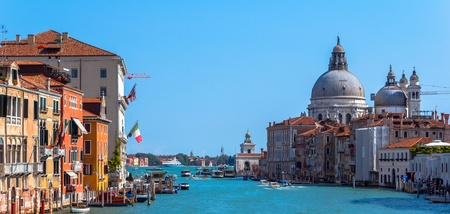 Grand Canal and Basilica Santa Maria della Salute, Venice, Italy. photo