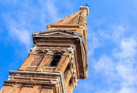 martino: Tower of San Martino church in Burano island.