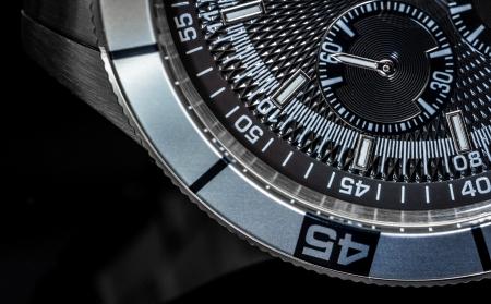 Macro shot of a chronometer. Selective focus, shallow depth of field. photo