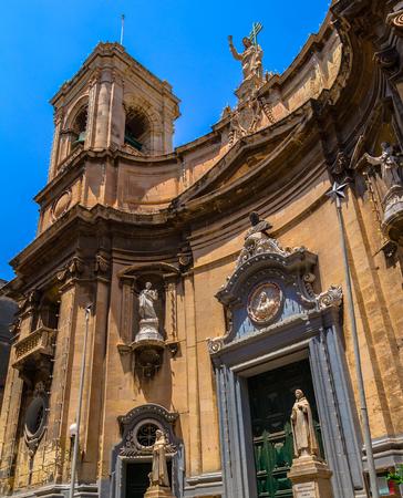 St Dominic church also known as Santa Maria di Porto Salvo at merchant street in Valletta  Stock Photo - 24084376