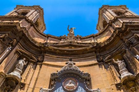 Santa Maria di Porto Salvo church at merchant street in Valletta  Stock Photo - 24084373