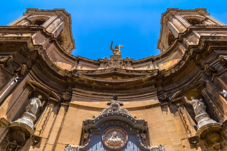 Santa Maria di Porto Salvo church at merchant street in Valletta Stock Photo - 24084373