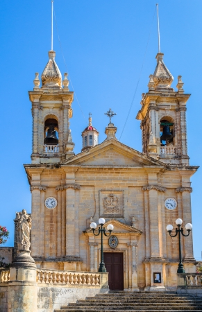 Sannat parish dedicated to St Margaret of Antioch, in the island of Gozo, Malta