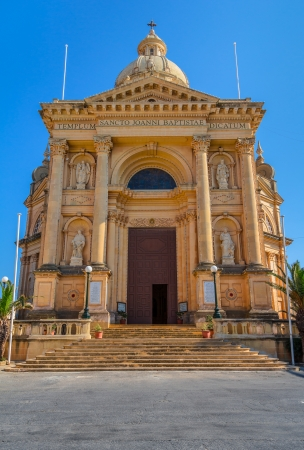 st  john: Church dedicated to St John the Baptist in Xewkija, in the island of Gozo, Malta