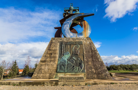 xacobeo: Monument to the Pope in Gozo mountain, Santiago de Compostela  Stock Photo
