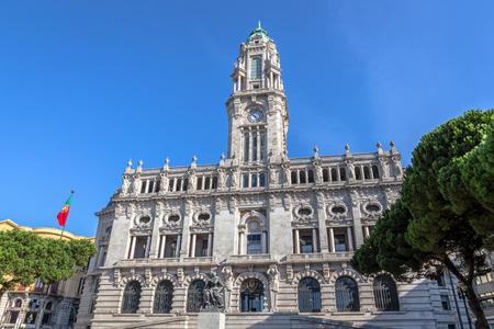 City hall of Porto on Avenida dos Aliados, Portugal.
