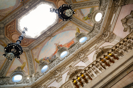 Detail of the roof of the stock exchange palace in Porto.
