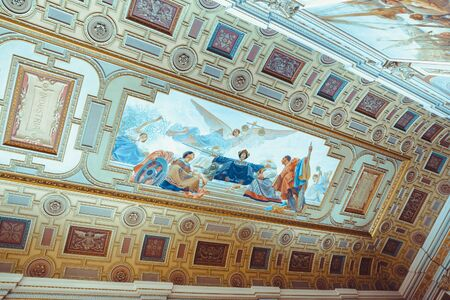 Painting in the roof of the stock exchange palace in Porto.