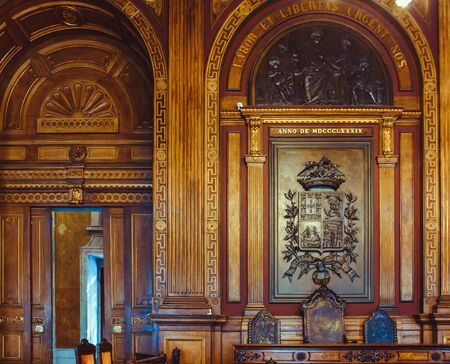 Room in the stock exchange palace in Porto.