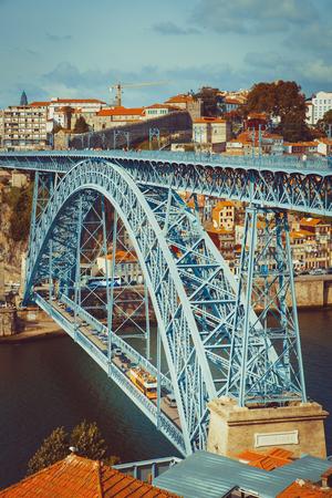 Two level metallic bridge in Porto.