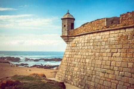 Castelo do Queijo or Cheese Castle near the beach of Porto.