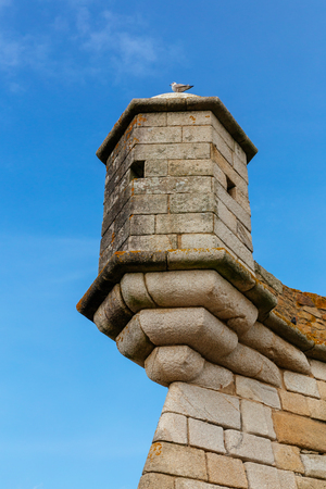 Turret of the Castelo do Queijo or Cheese Castle in Porto.