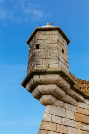 Turret of the Castelo do Queijo or Cheese Castle in Porto.