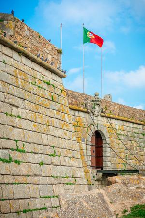 Entrance of the Castelo do Queijo or Cheese Castle or Forte Francisco Xavier in Porto. Editorial
