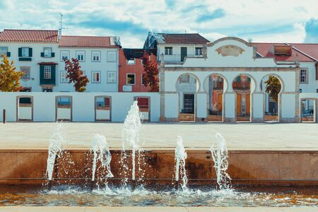 Square in the middle of the portuguese town Braganza.