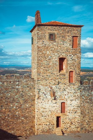 Tower of the castle of Braganza. Editorial