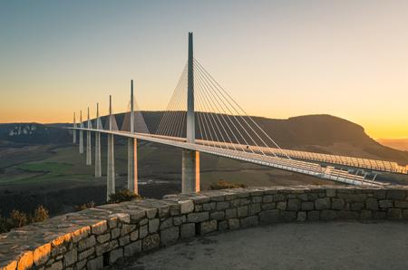 Millau viaduct, france Imagens