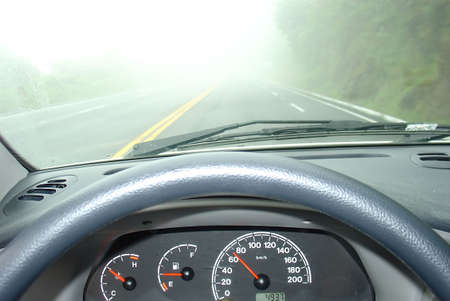 driving in a fog Stock Photo - 387731