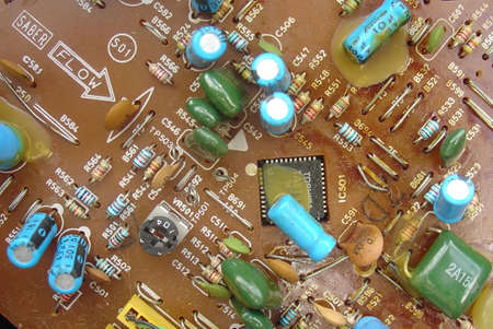 capacitor: electronic components board
