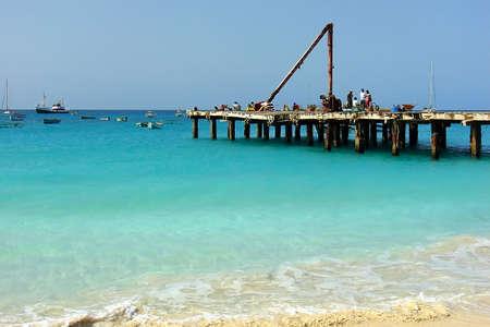 Santa Maria beach in Cape Verde Islands photo