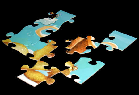solver: puzzle with missing pieces