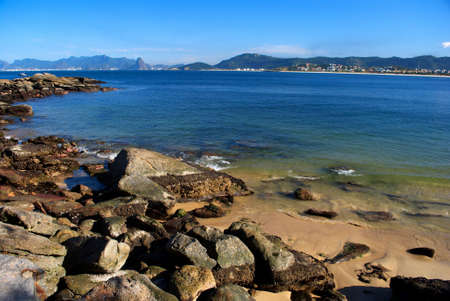 Green sea beach in Niteroi, Rio de Janeiro, Brazil photo