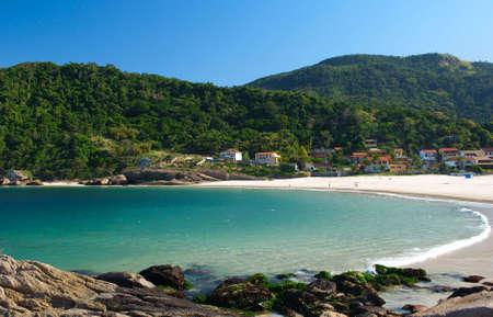 Crystalline sea beach in Niteroi, Rio de Janeiro, Brazil photo
