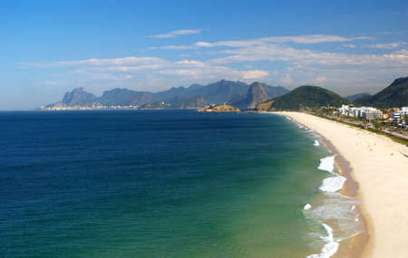 brazil beach: Crystalline sea beach in Niteroi, Rio de Janeiro, Brazil
