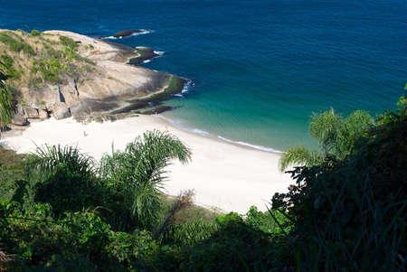 Tranquil Beach view in Niteroi, Rio de Janeiro, Brazil photo