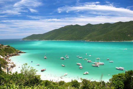 Swimming in crystalline clear waters in Arraial do Cabo, Rio de Janeiro, Brazil